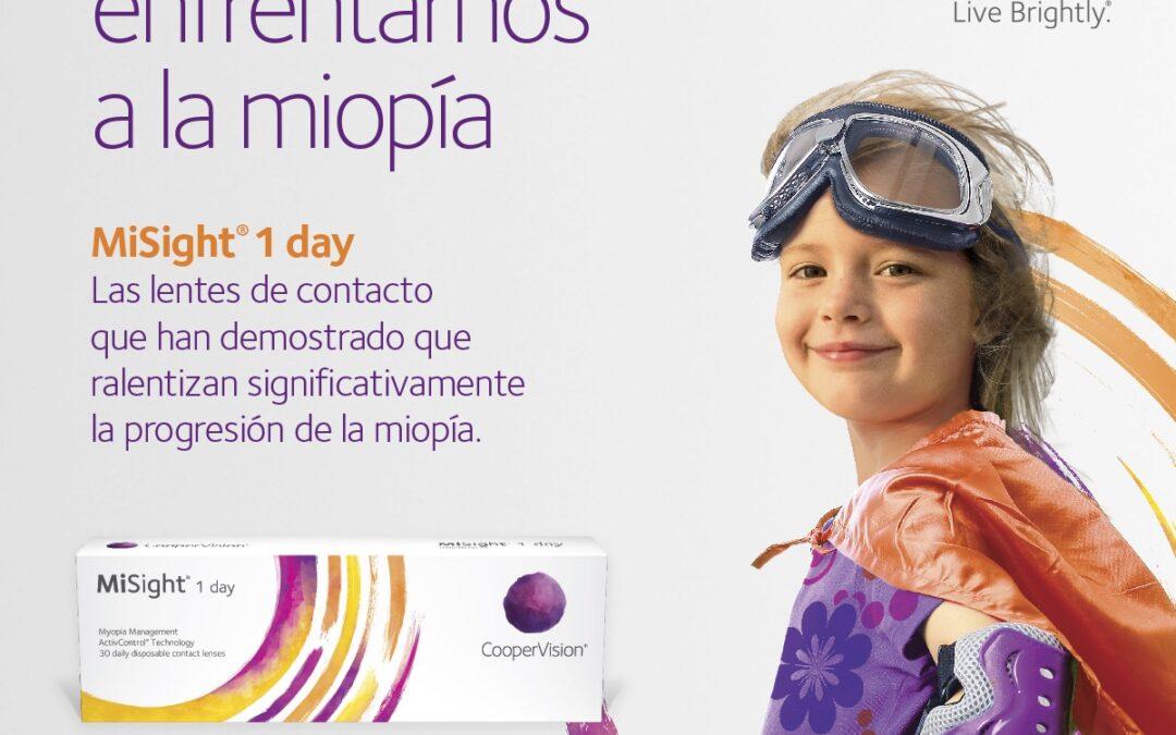 control miopía con lentillas de desenfoque periférico MiSight